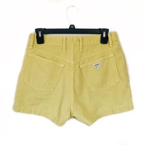 Vintage Guess Yellow Mini Shorts